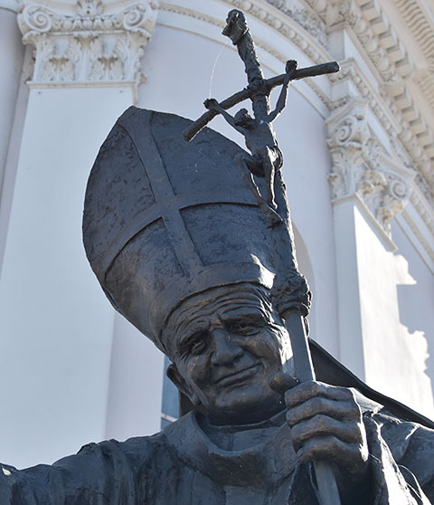 Statue of Pope John Paul II Wadowice
