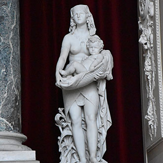 Pless Palace Marble Statue